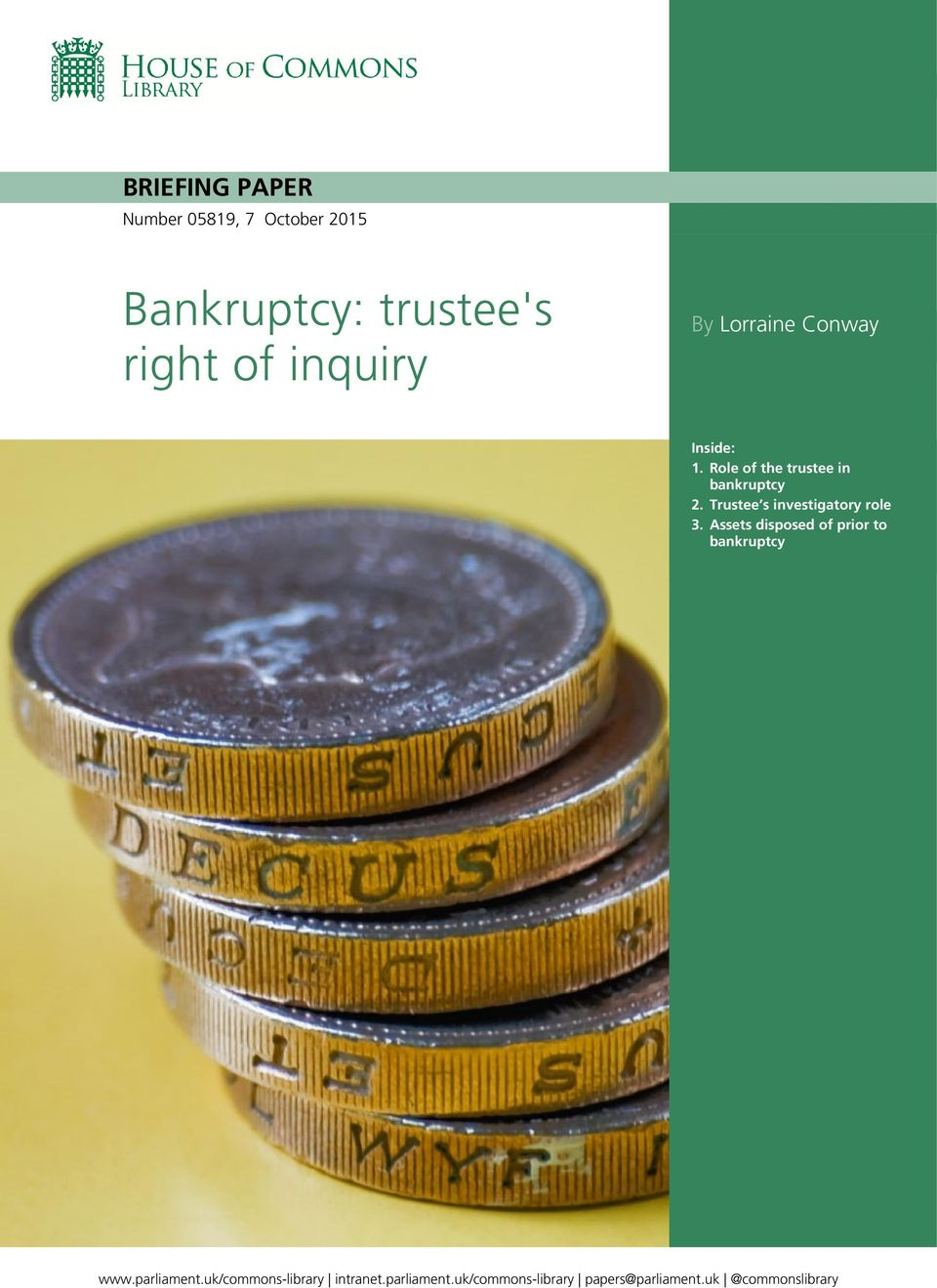 Trustee s investigatory role 3. Assets disposed of prior to bankruptcy www.