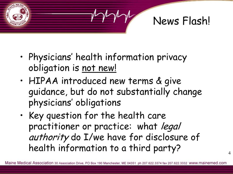 physicians obligations Key question for the health care practitioner or