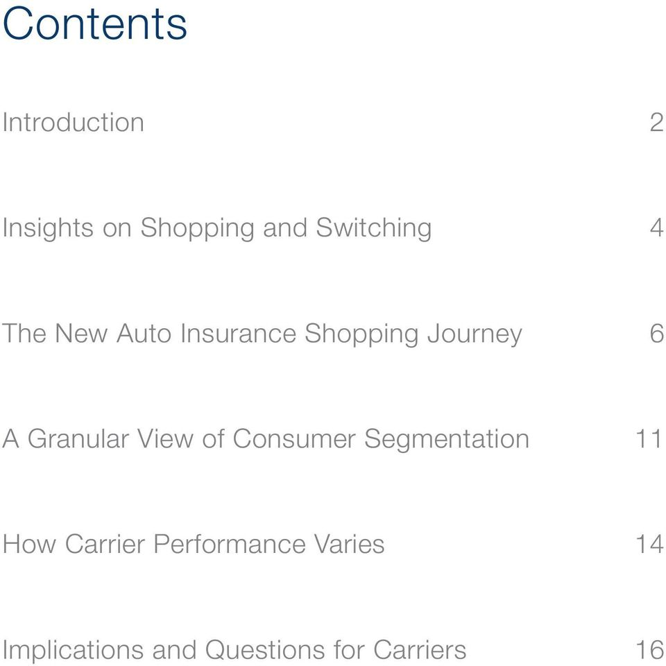 A Granular View of Consumer Segmentation How Carrier