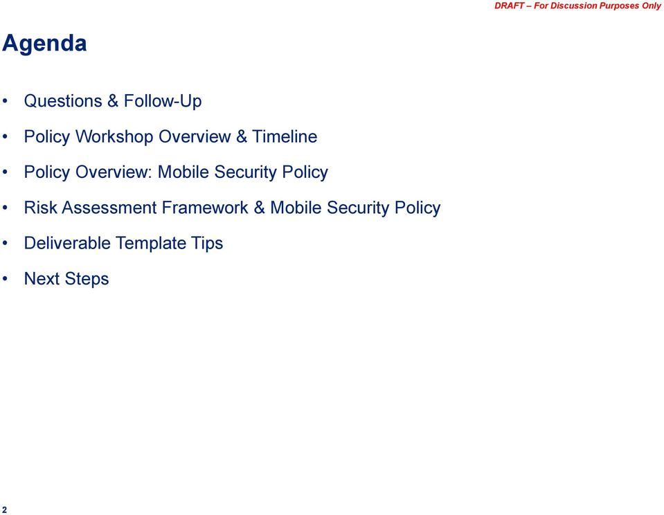 Security Policy Risk Assessment Framework &