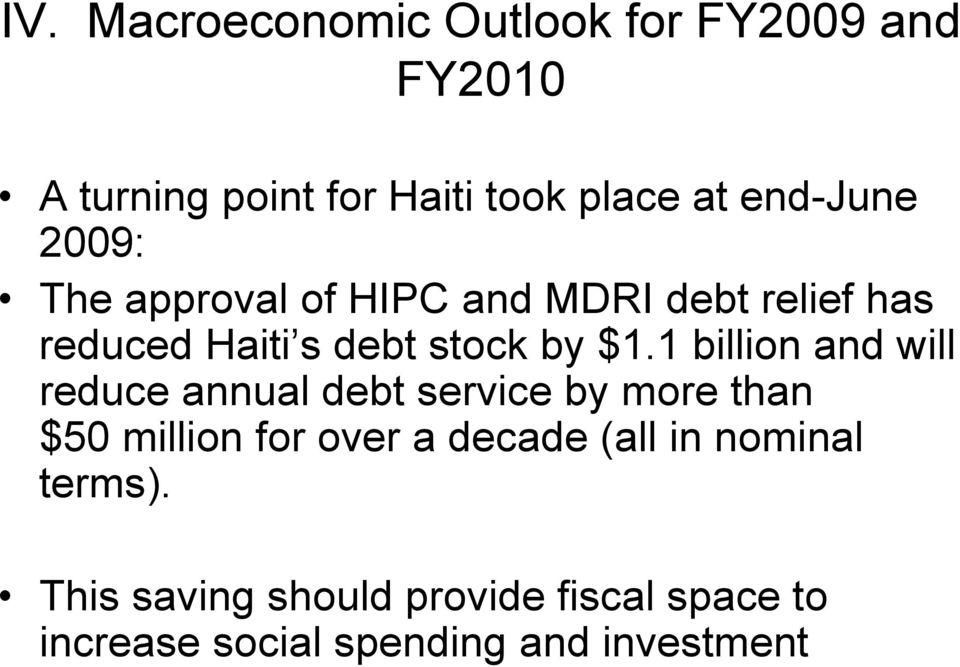 1 billion and will reduce annual debt service by more than $50 million for over a decade (all