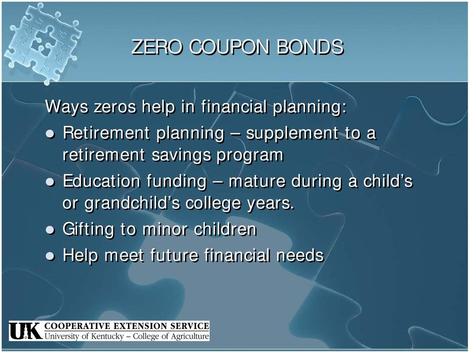 Education funding mature during a child s or grandchild s