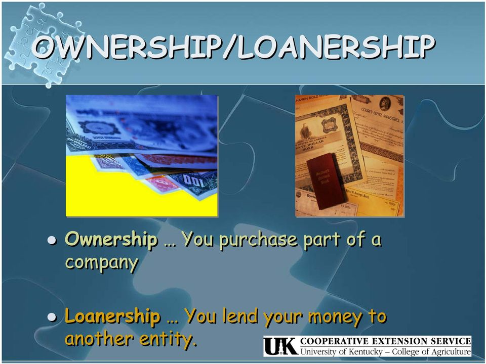of a company Loanership You