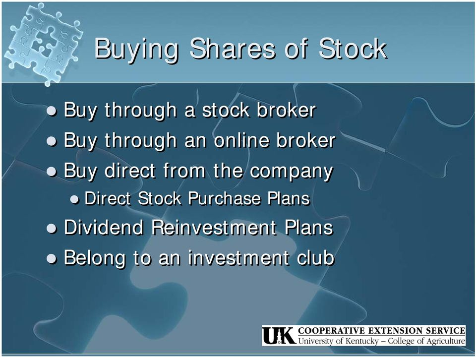 from the company Direct Stock Purchase Plans