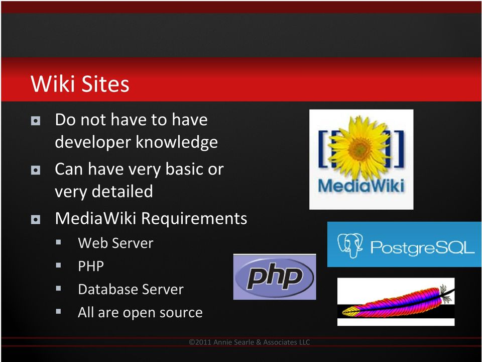 detailed MediaWiki Requirements Web