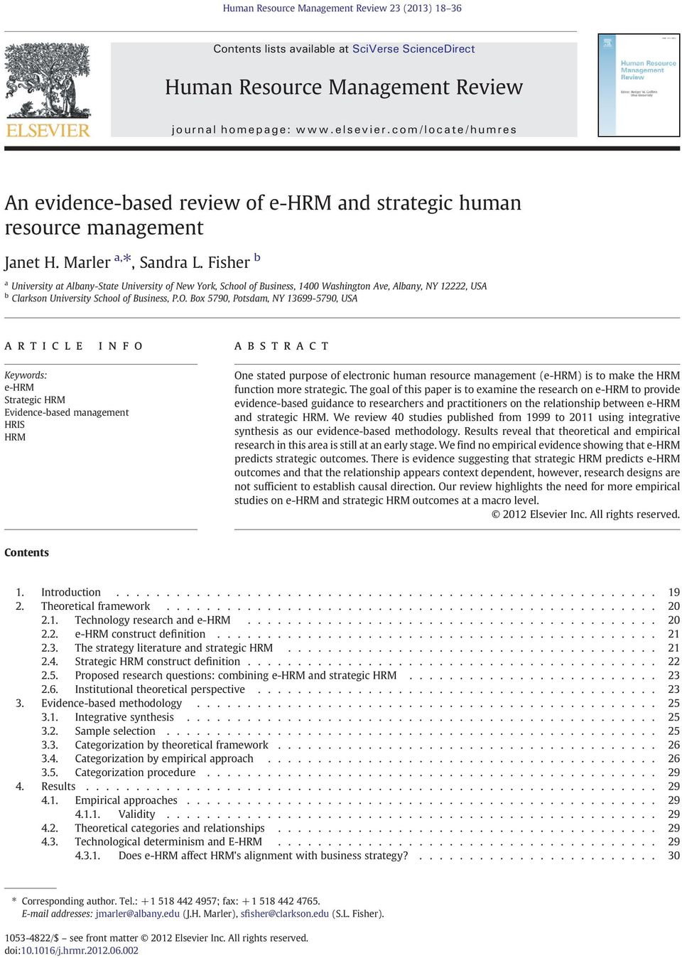 strategic human resource management a review of the literature and a proposed typology Title: strategic human resources management: a review of the literature and a proposed typology created date: 4/10/2001 9:27:52 am.
