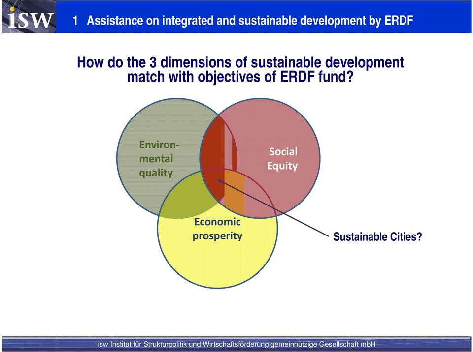 development match with objectives of ERDF fund?