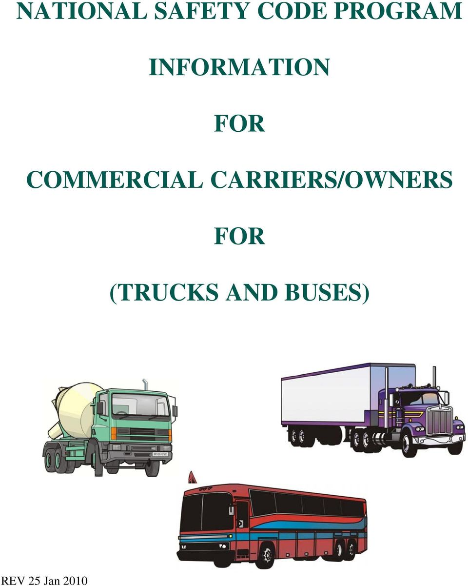 COMMERCIAL CARRIERS/OWNERS