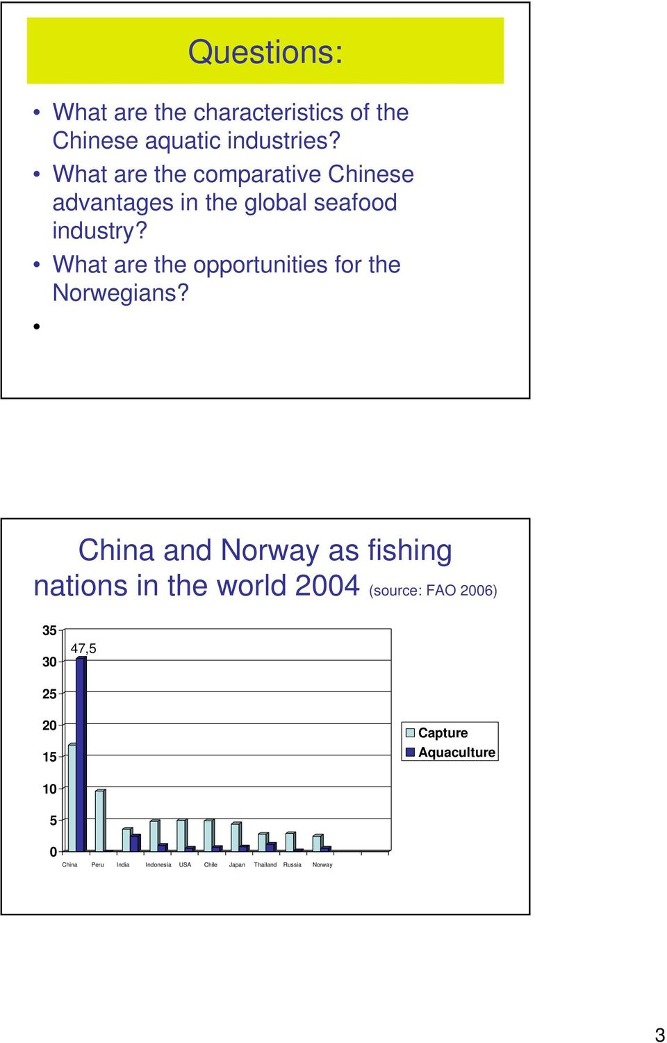 What are the opportunities for the Norwegians?