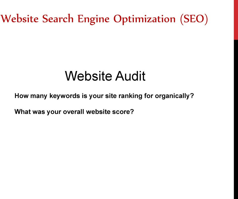 keywords is your site ranking for