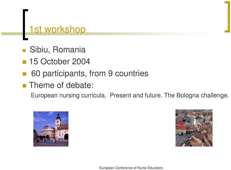 Theme of debate: European nursing