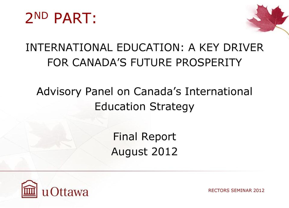 PROSPERITY Advisory Panel on Canada s