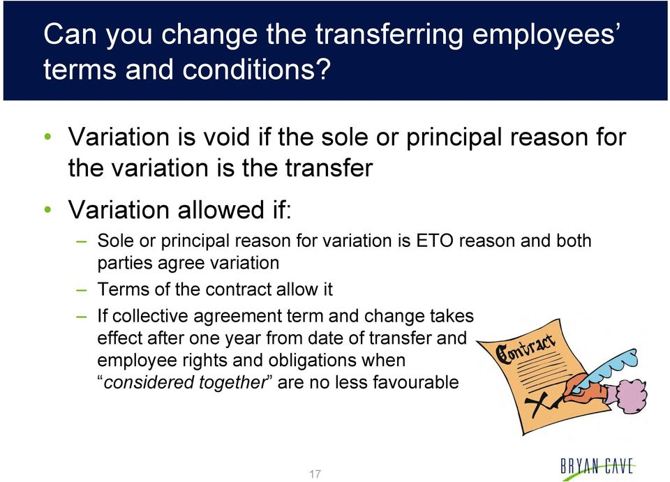 principal reason for variation is ETO reason and both parties agree variation Terms of the contract allow it If