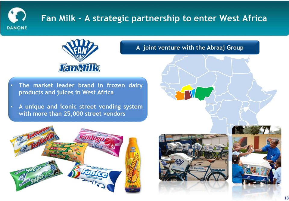 in frozen dairy products and juices in West Africa A unique