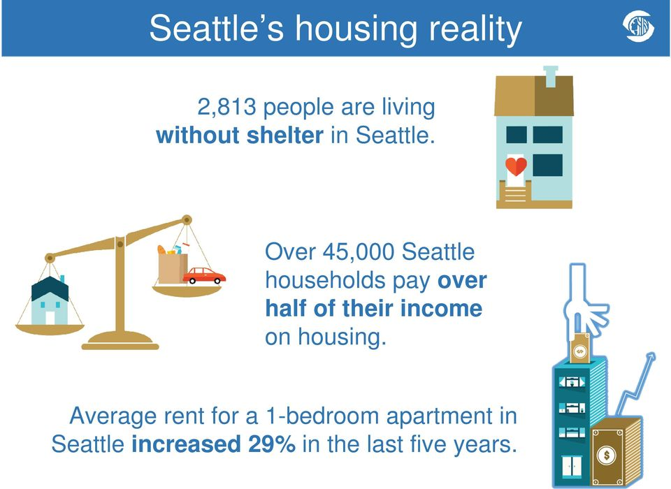 Over 45,000 Seattle households pay over half of their