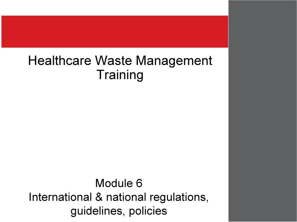 Training Module 6 International &
