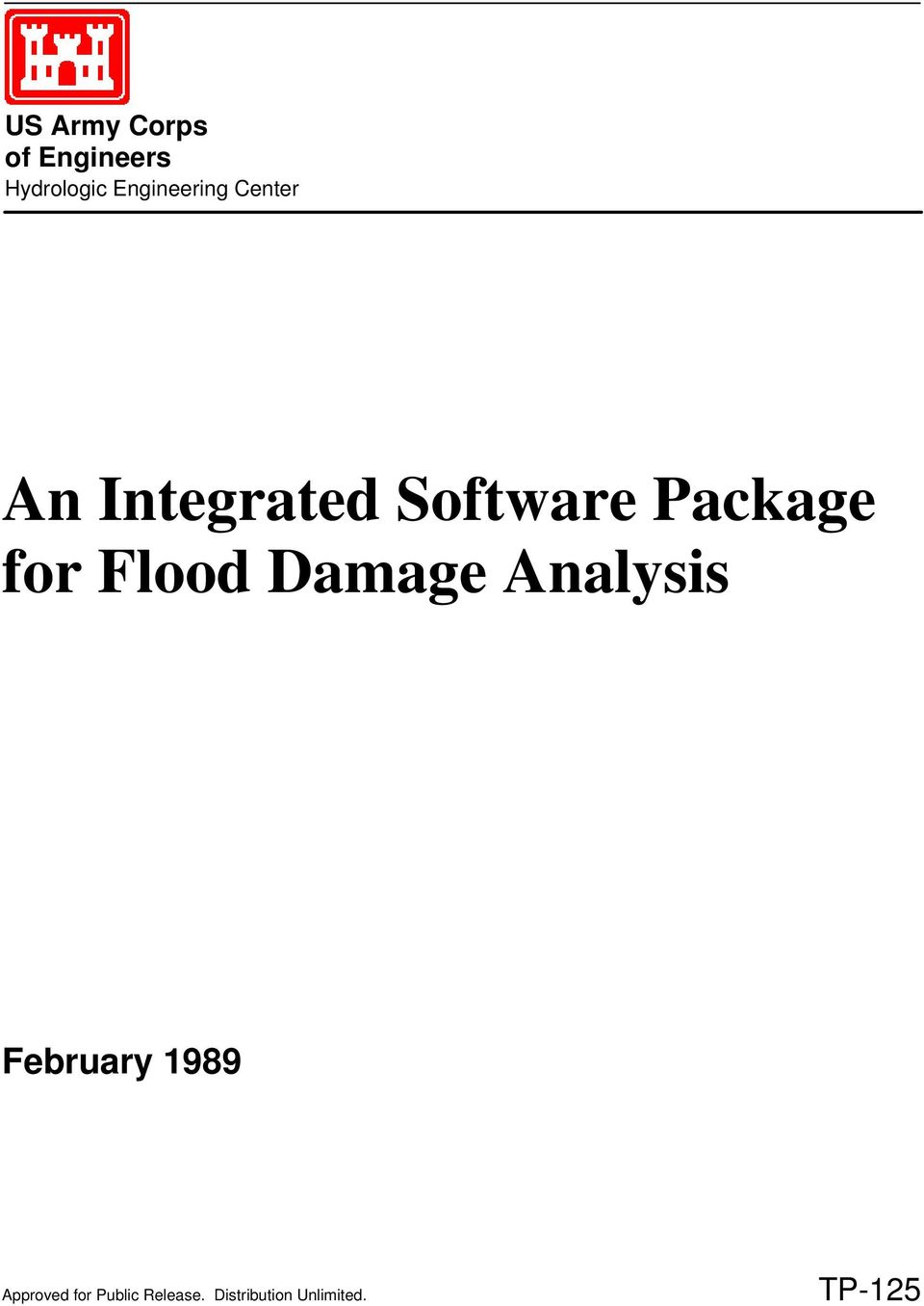Package for Flood Damage Analysis February