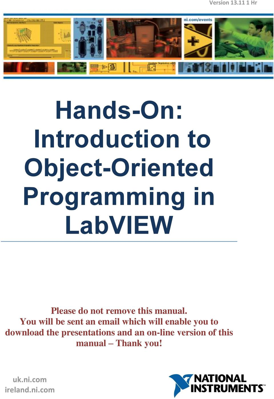 LabVIEW Please do not remove this manual.