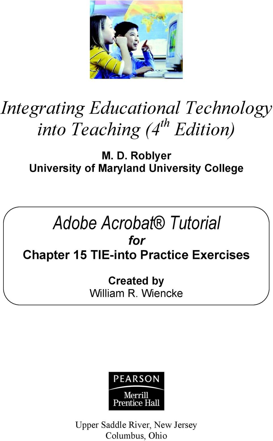Acrobat Tutorial for Chapter 15 TIE-into Practice Exercises