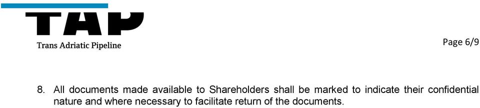 Shareholders shall be marked to indicate