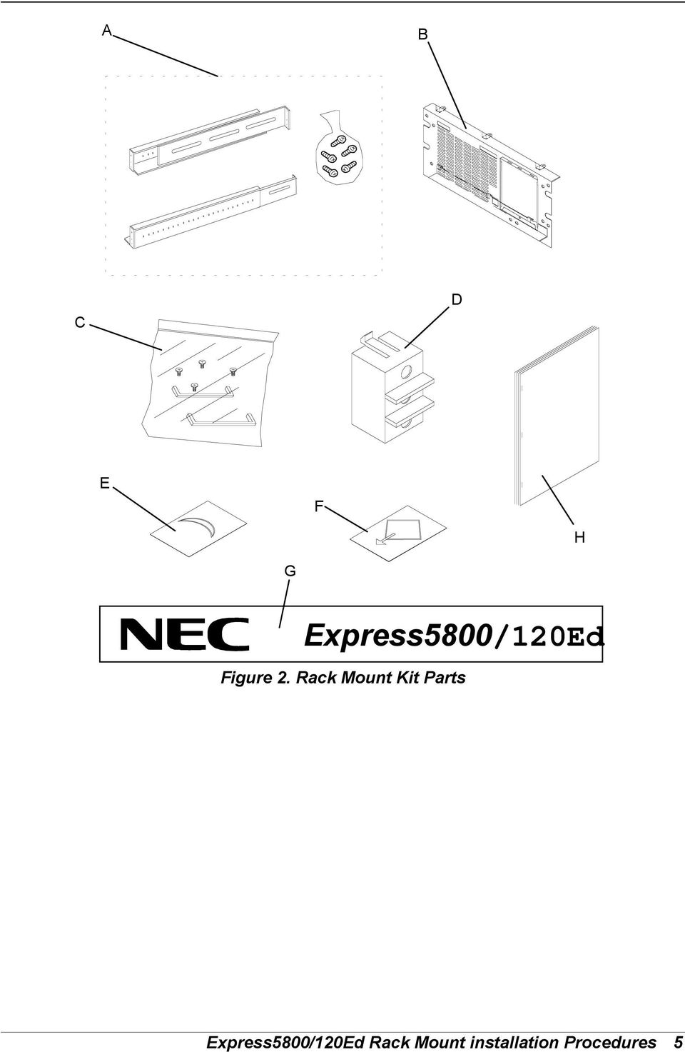 Rack Mount Kit Parts