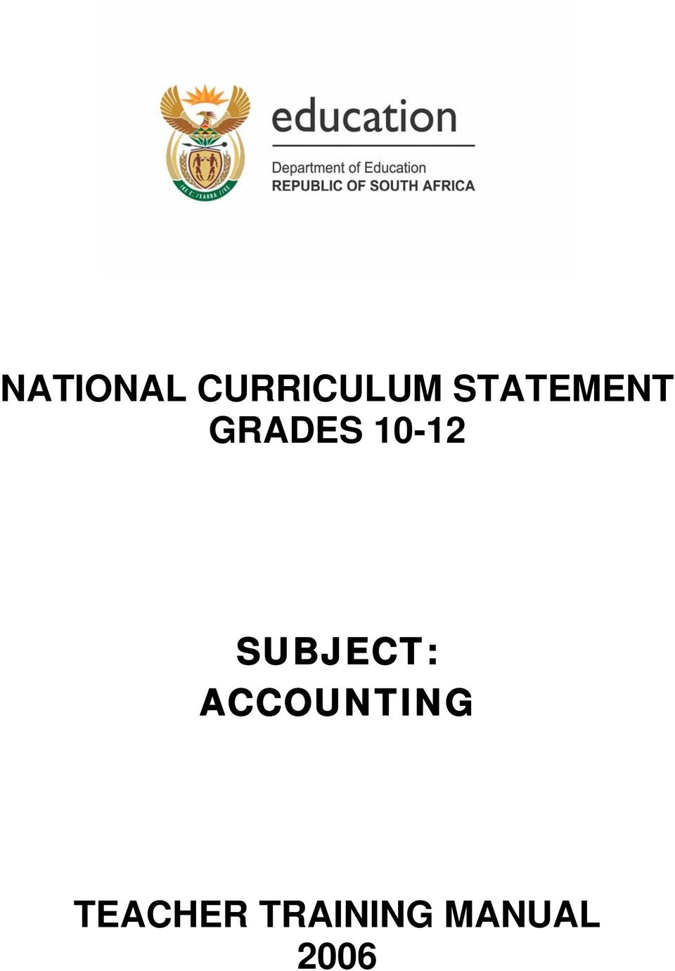 SUBJECT: ACCOUNTING