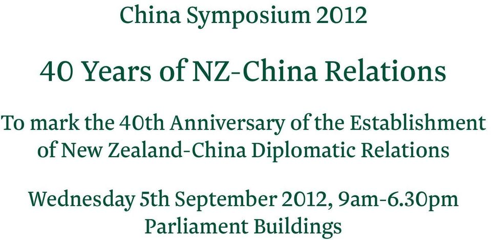 of New Zealand-China Diplomatic Relations Wednesday