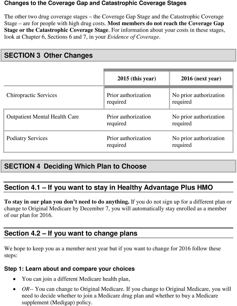 For information about your costs in these stages, look at Chapter 6, Sections 6 and 7, in your Evidence of Coverage.