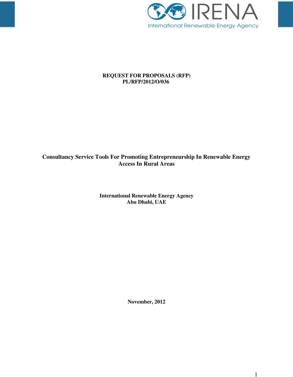 Entrepreneurship In Renewable Energy Access In Rural