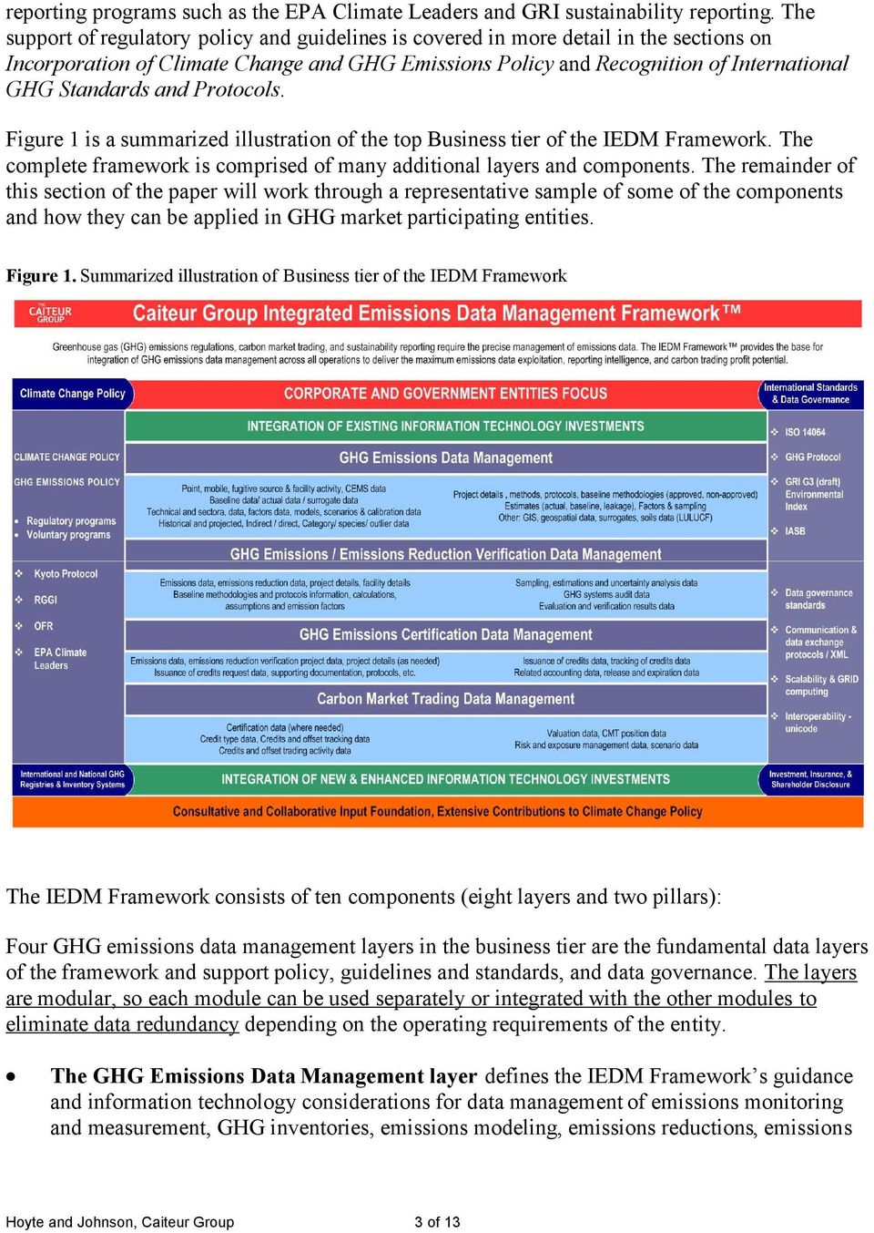 and Protocols. Figure 1 is a summarized illustration of the top Business tier of the IEDM Framework. The complete framework is comprised of many additional layers and components.