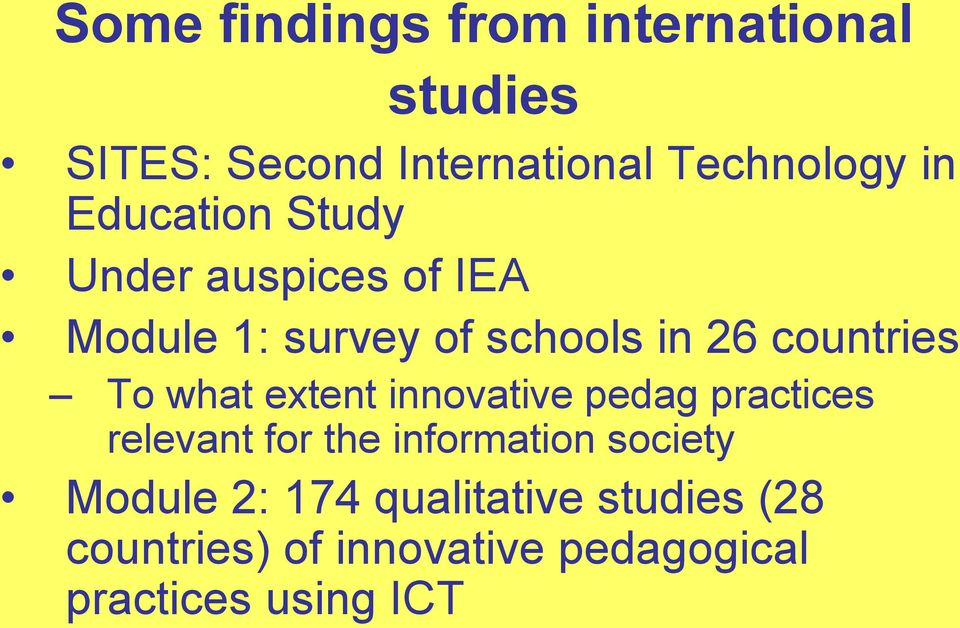 what extent innovative pedag practices relevant for the information society Module