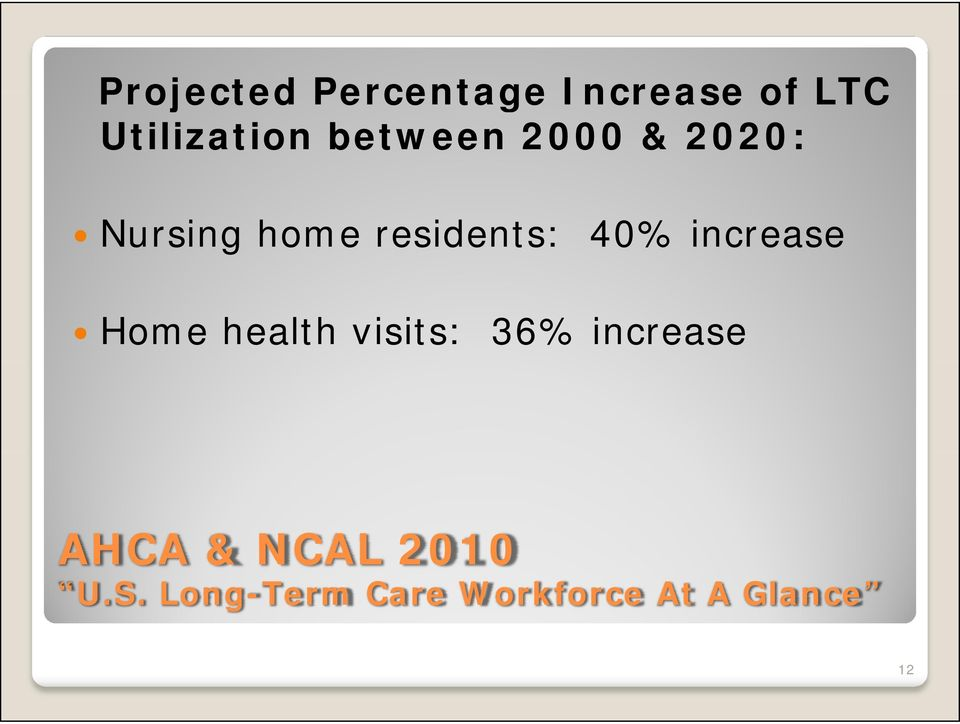 increase Home health visits: 36% increase AHCA &