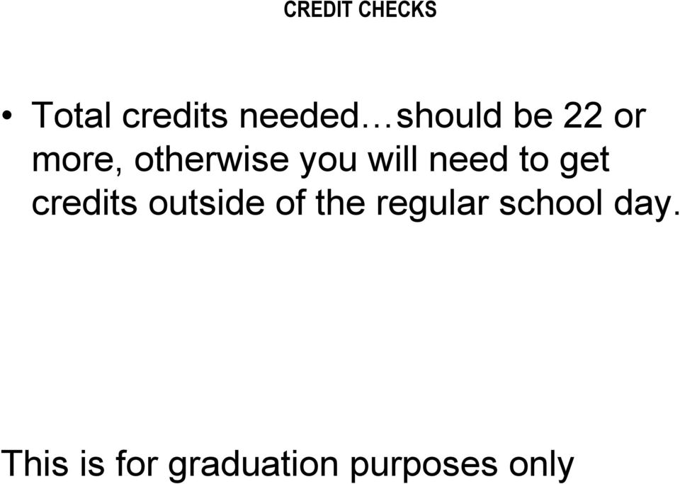 get credits outside of the regular school