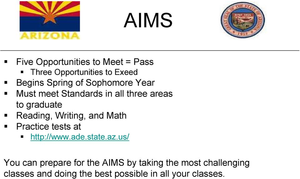 and Math Practice tests at http://www.ade.state.az.