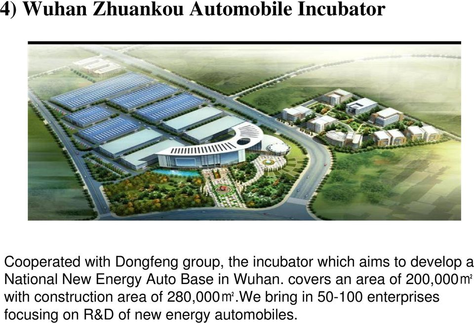 Wuhan. covers an area of 200,000m2 with construction area of 280,000m2.