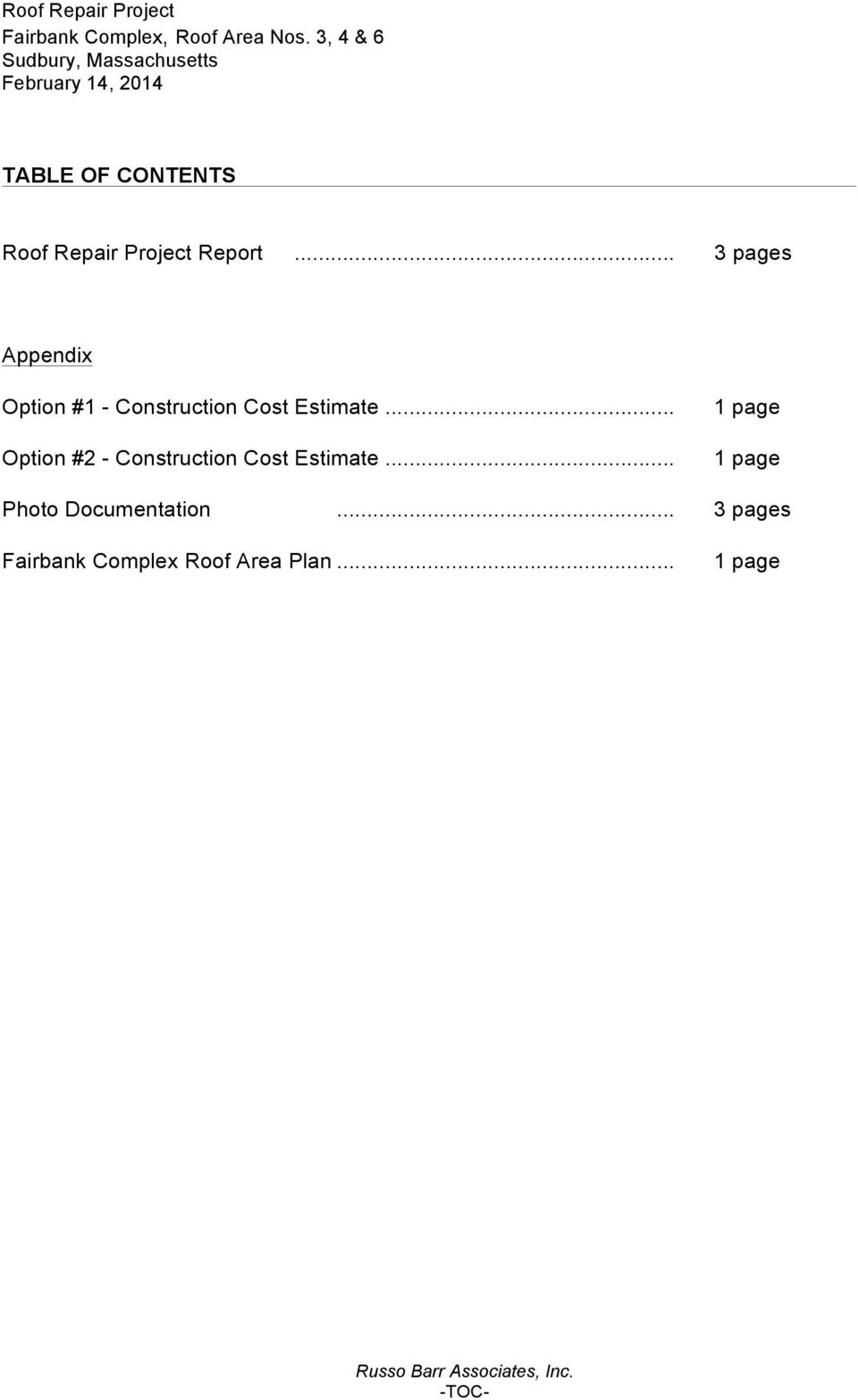 .. Option #2 - Construction Cost Estimate.