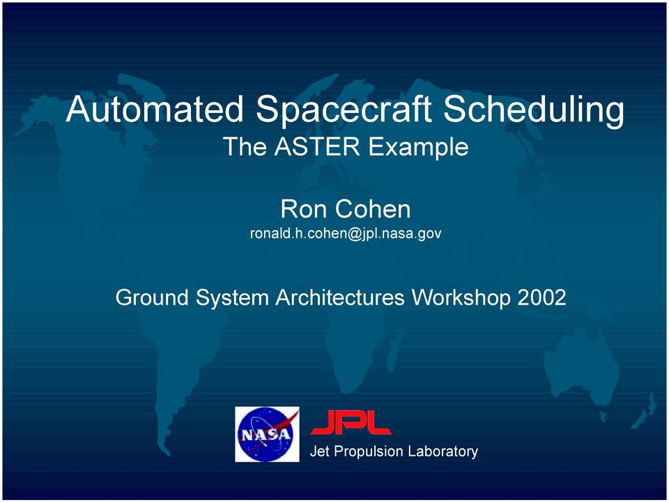 nasa.gov Ground System Architectures
