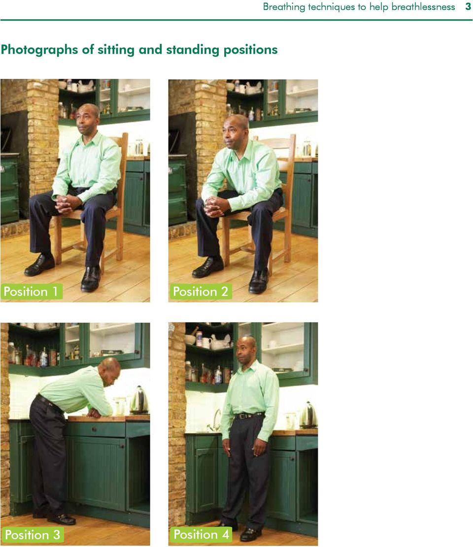 sitting and standing positions