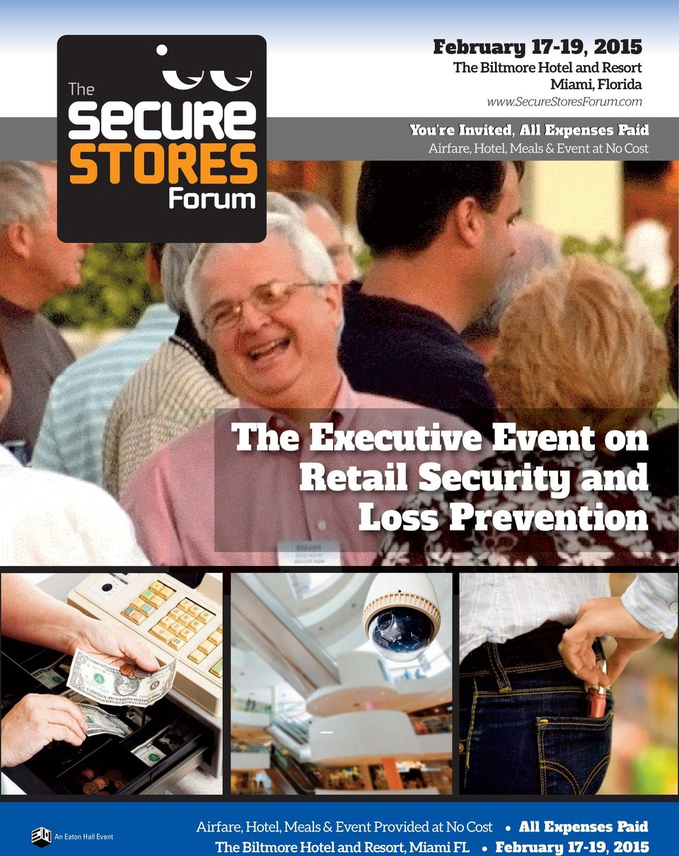 Security and Loss Prevention An Eaton Hall Event Airfare, Hotel, Meals