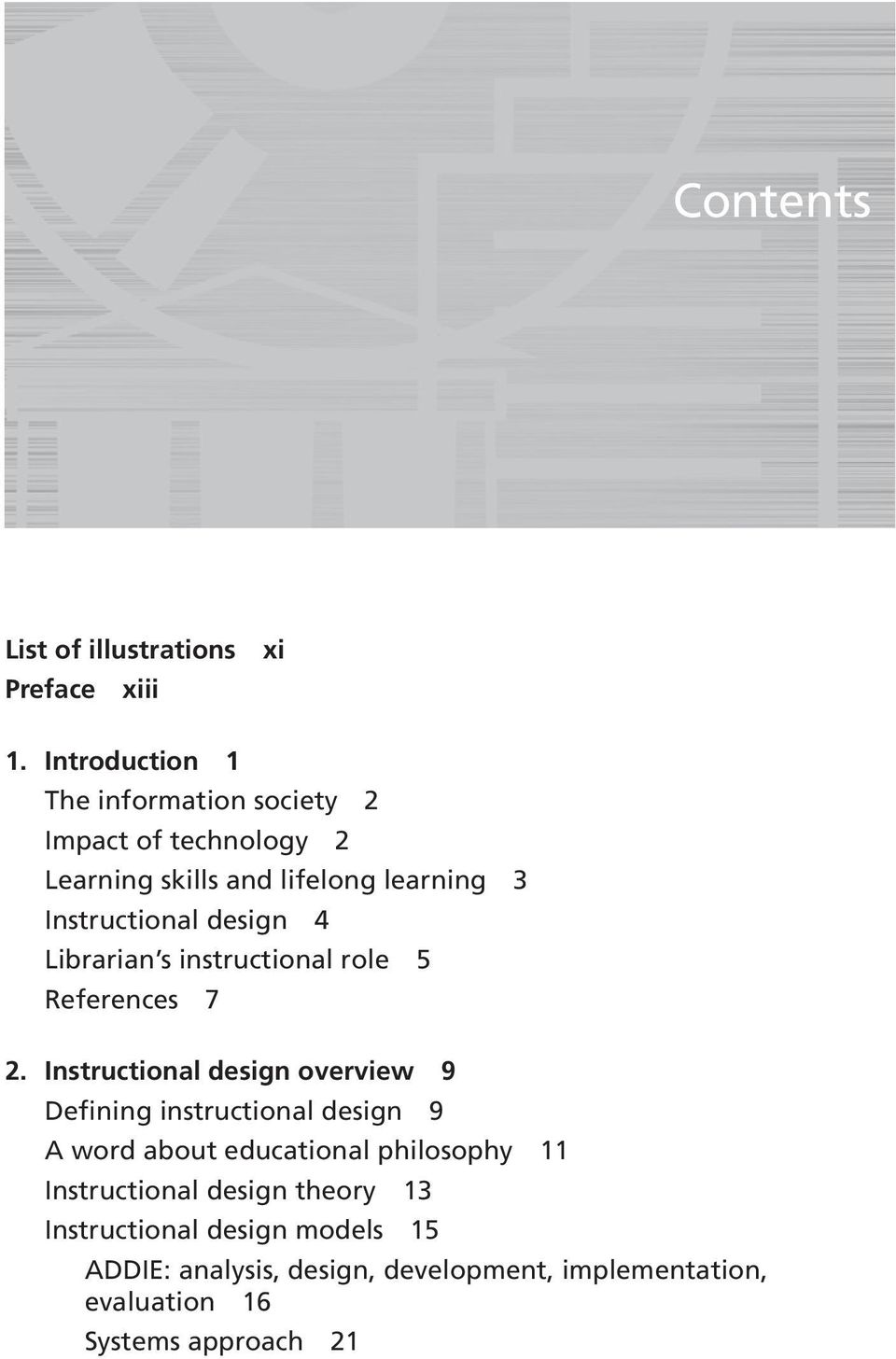 design 4 Librarian s instructional role 5 References 7 2.