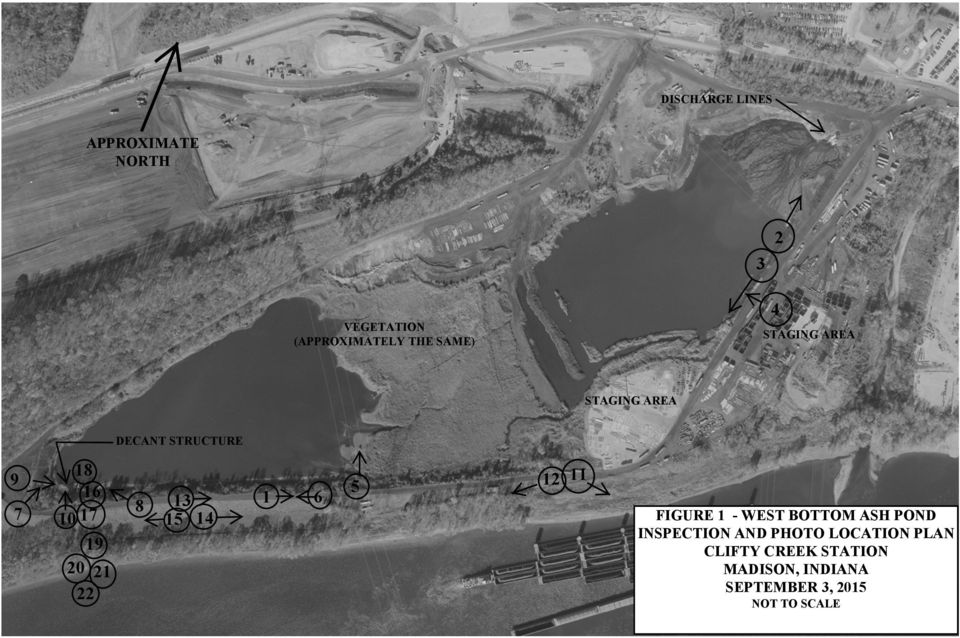 15 14 1 6 5 12 11 FIGURE 1 - WEST BOTTOM ASH POND INSPECTION AND PHOTO