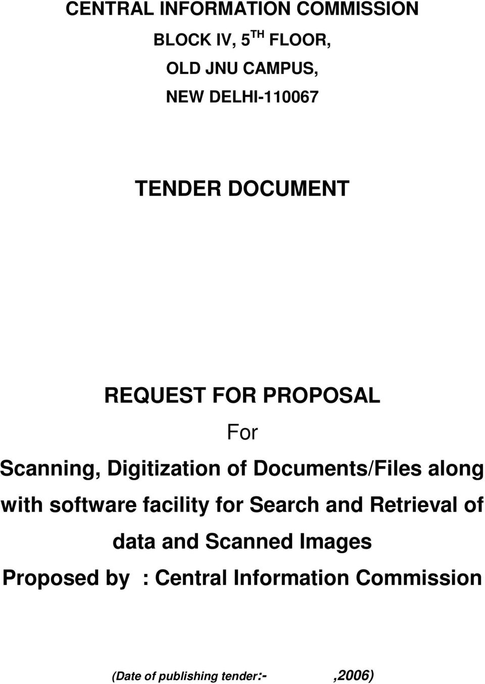 Documents/Files along with software facility for Search and Retrieval of data and