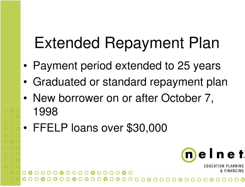 standard repayment plan New borrower on
