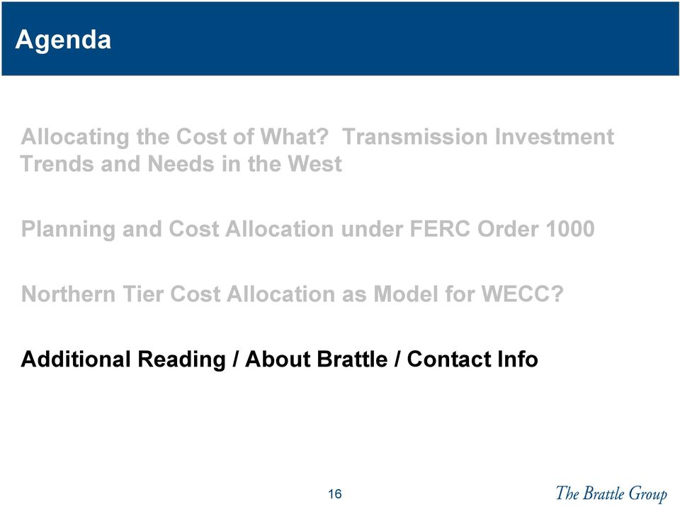 Planning and Cost Allocation under FERC Order 1000 Northern