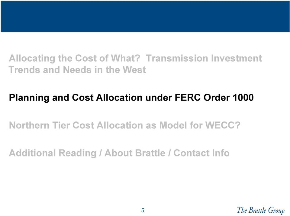 Planning and Cost Allocation under FERC Order 1000