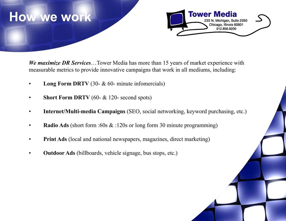Internet/Multi-media Campaigns (SEO, social networking, keyword purchasing, etc.