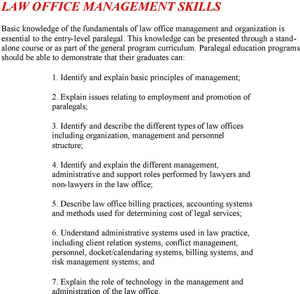 Aafpe Core Competencies For Paralegal Programs Pdf