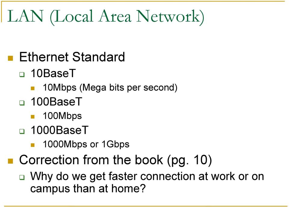 1000Mbps or 1Gbps Correction from the book (pg.