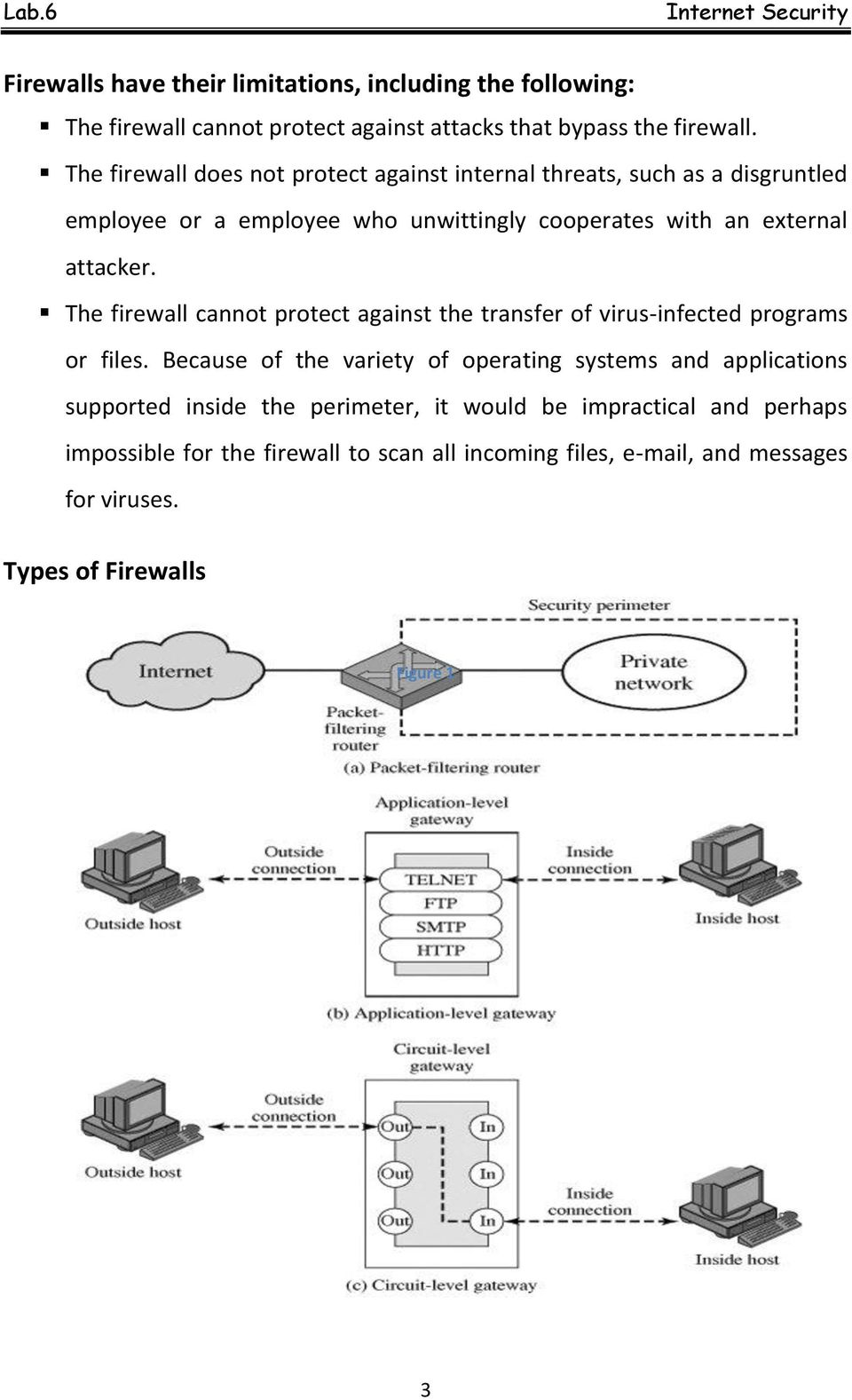 The firewall cannot protect against the transfer of virus-infected programs or files.