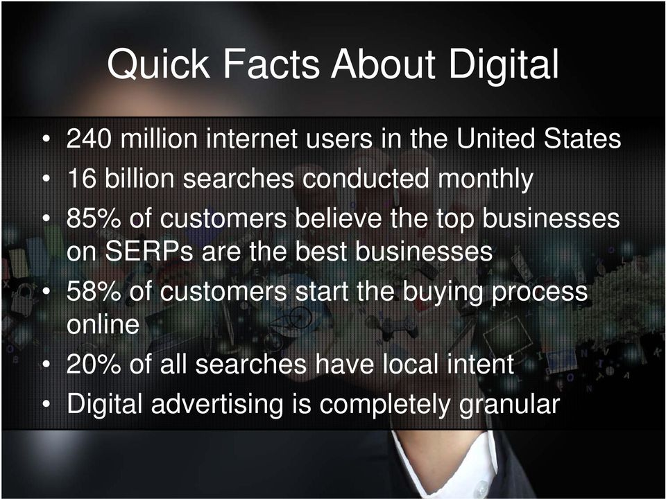 on SERPs are the best businesses 58% of customers start the buying process